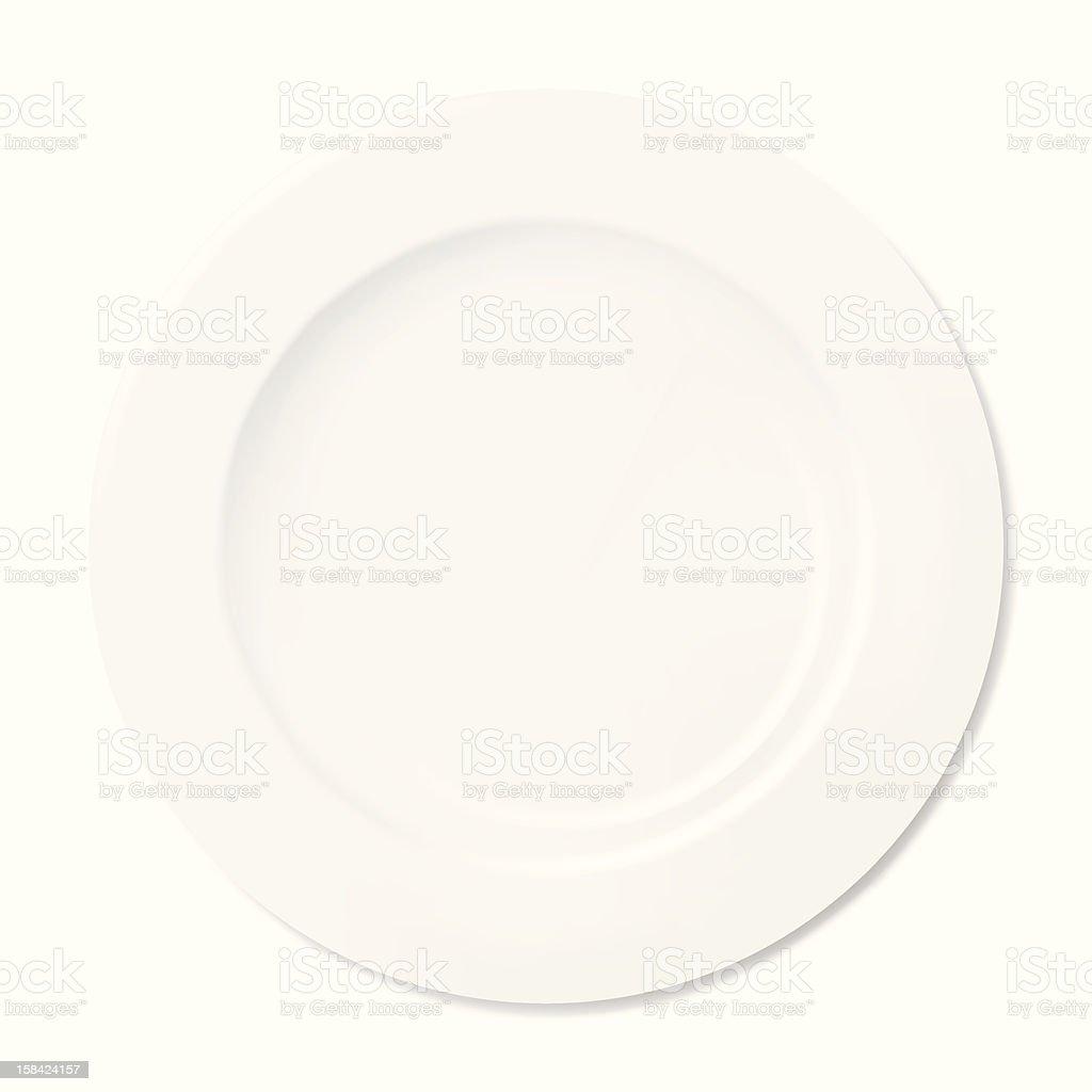 White Plate royalty-free stock vector art