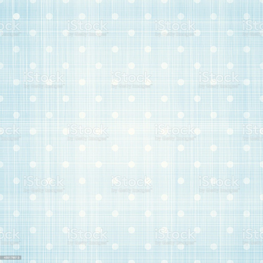 White polka dots on light blue canvas vector art illustration