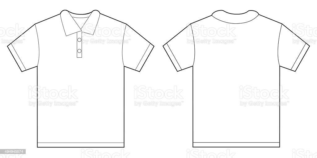 White Polo Shirt Design Template For Men vector art illustration