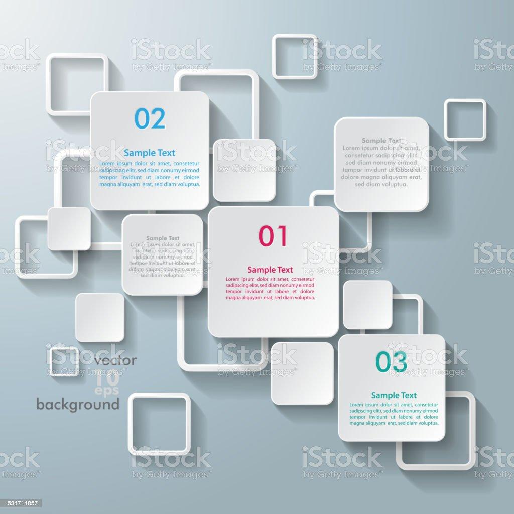 White Rectangle Squares vector art illustration