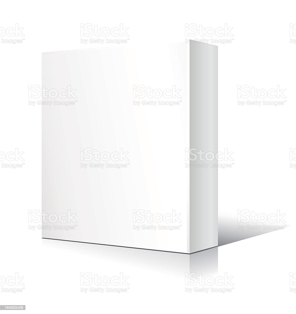 White, rectangular, three dimensional block standing up royalty-free stock vector art