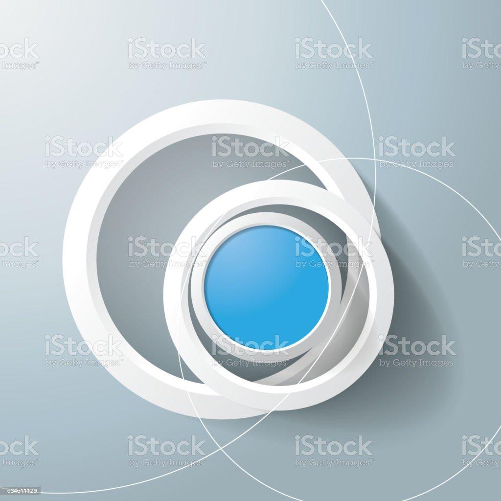 White Rings Blue Eye vector art illustration