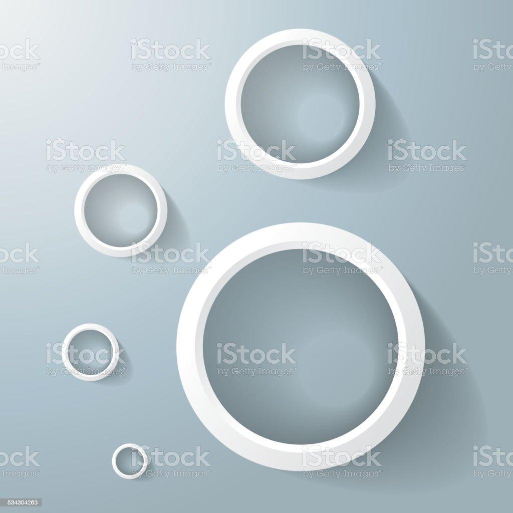 White Rings Golden Ration vector art illustration