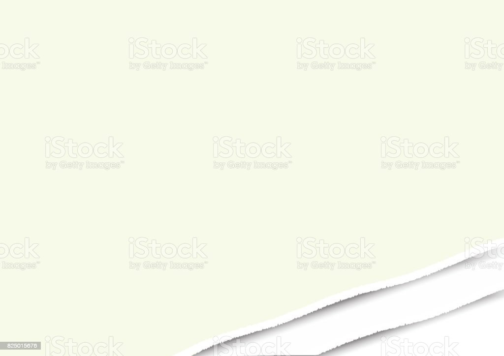 white ripped paper note vector for business message background vector art illustration