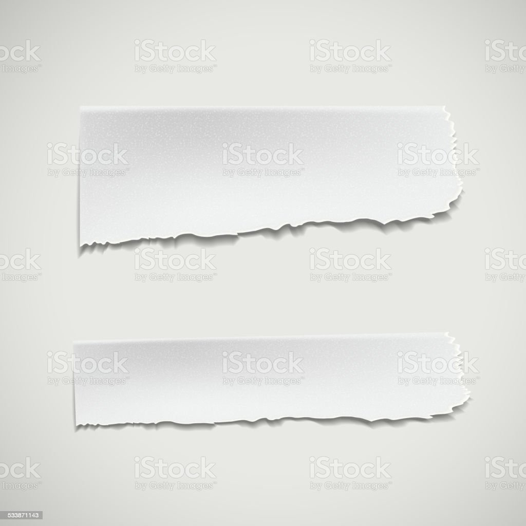 white ripped paper vector art illustration