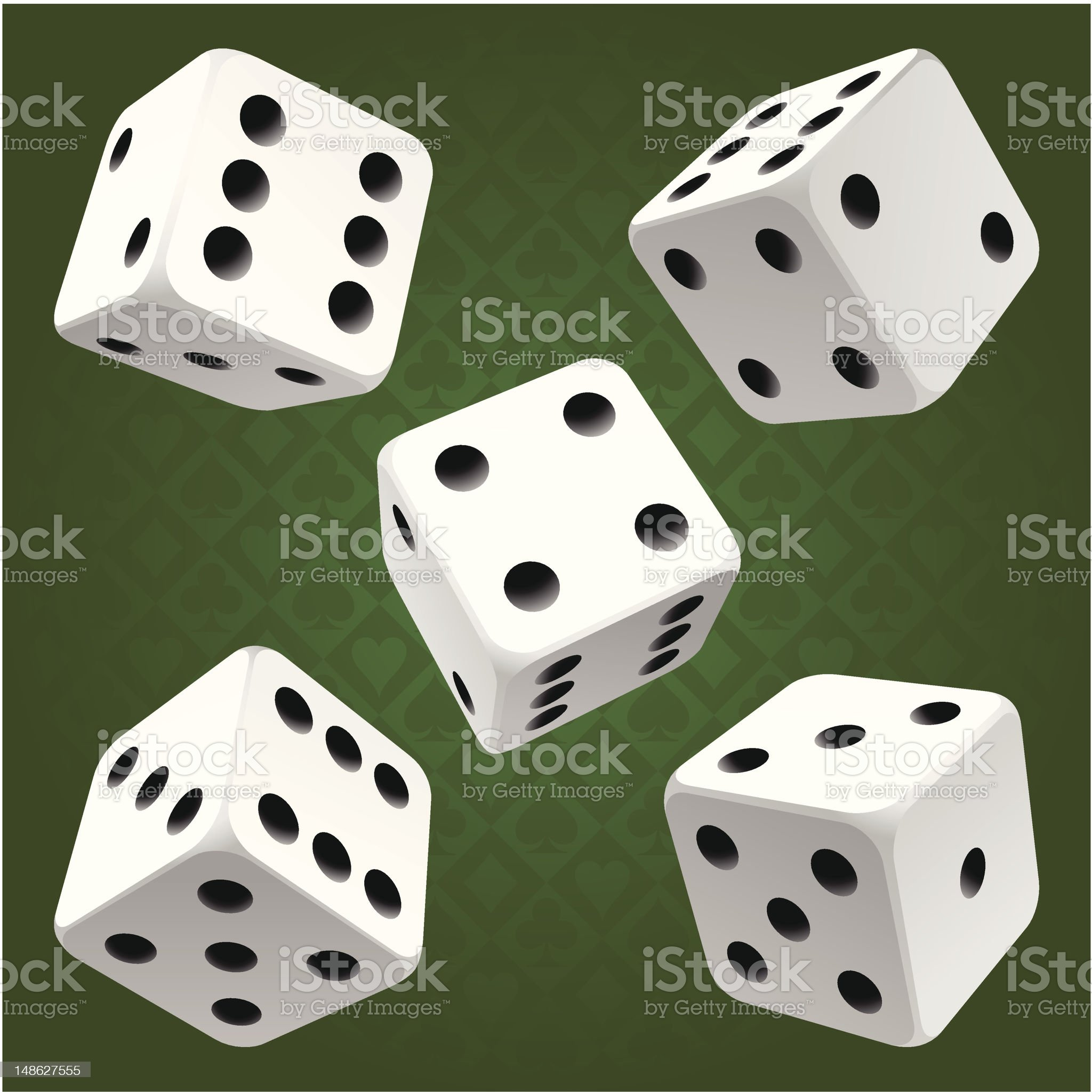 White rolling dice set. Vector icon royalty-free stock vector art