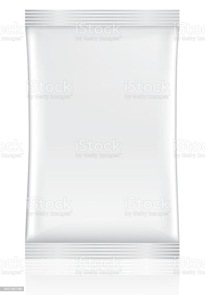 White Sachet packaging vector art illustration