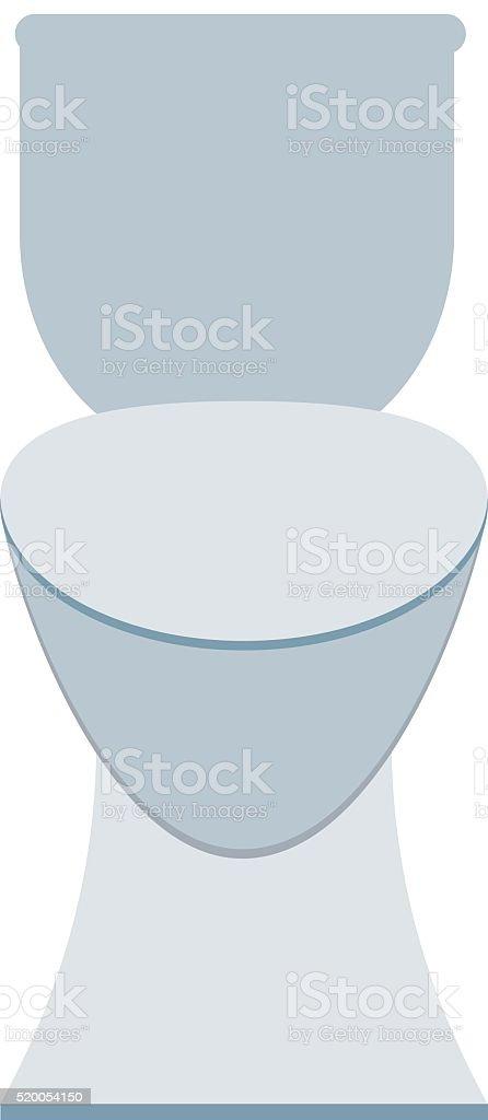 White sanitary clean toilet bowl in bathroom bath design washroom vector art illustration