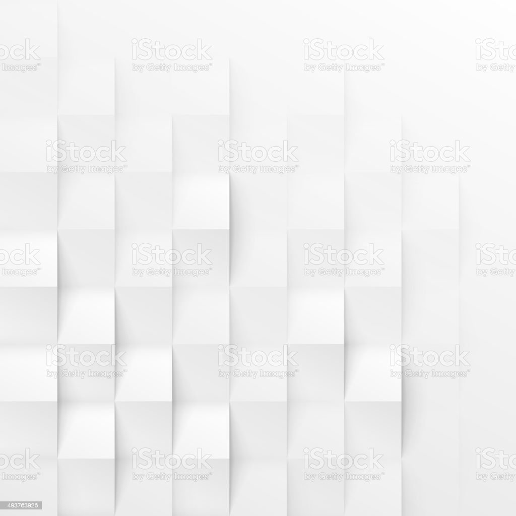 White seamless geometric texture vector art illustration