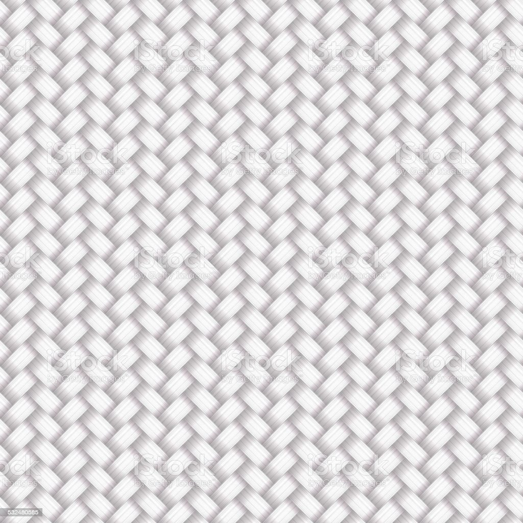 White Seamless Wicker Pattern vector art illustration