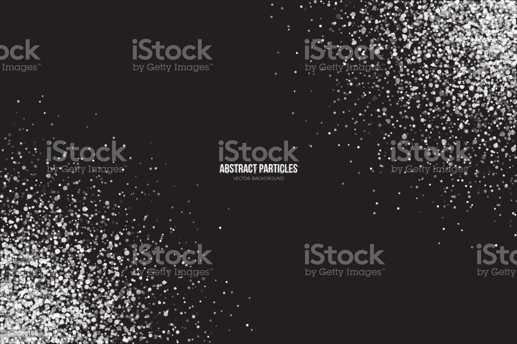 White Shimmer Glowing Round Particles Vector Background vector art illustration