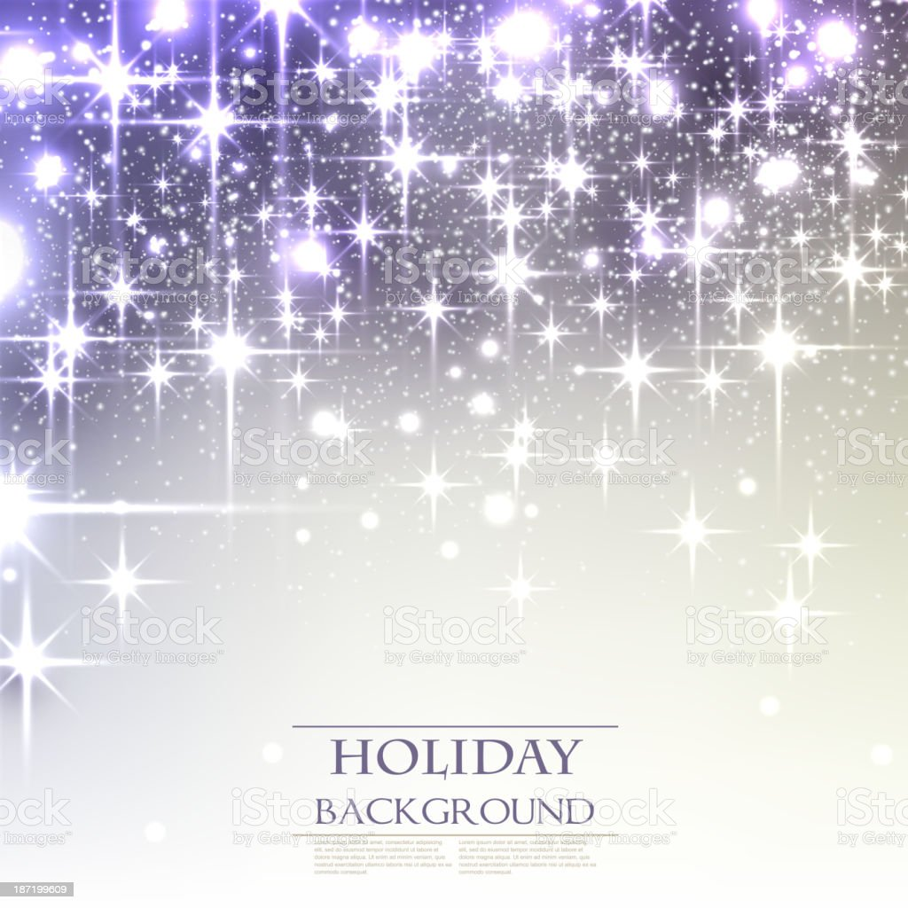 White shiny star background with black and purple backdrop royalty-free stock vector art
