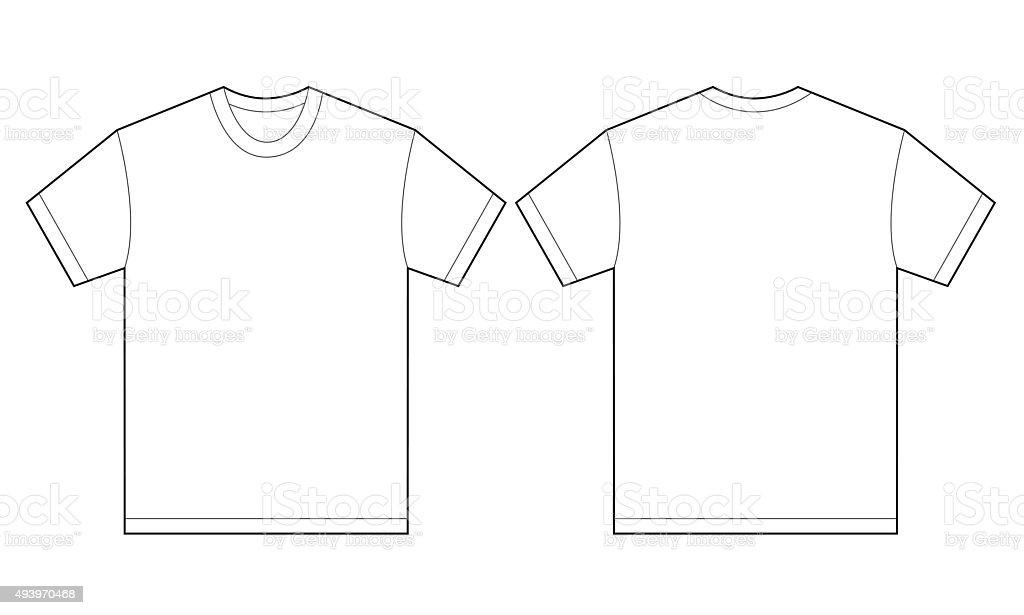 White Shirt Design Template For Men vector art illustration