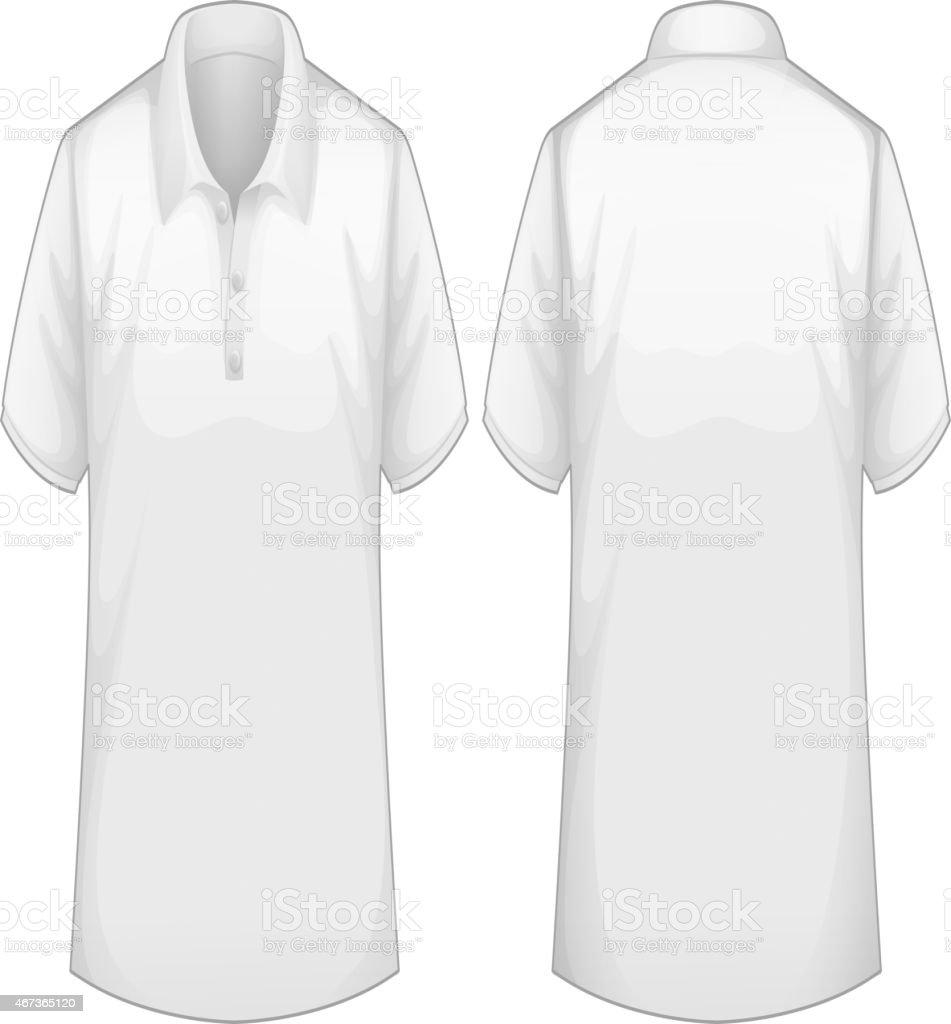 White shirt vector art illustration