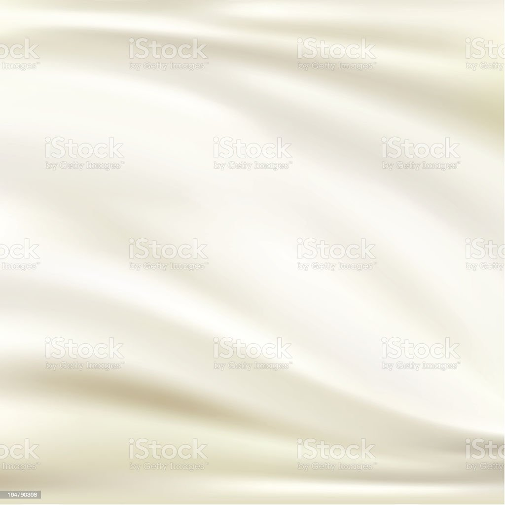 White silk background vector art illustration