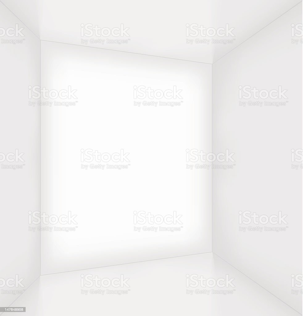 White simple empty room interior royalty-free stock photo