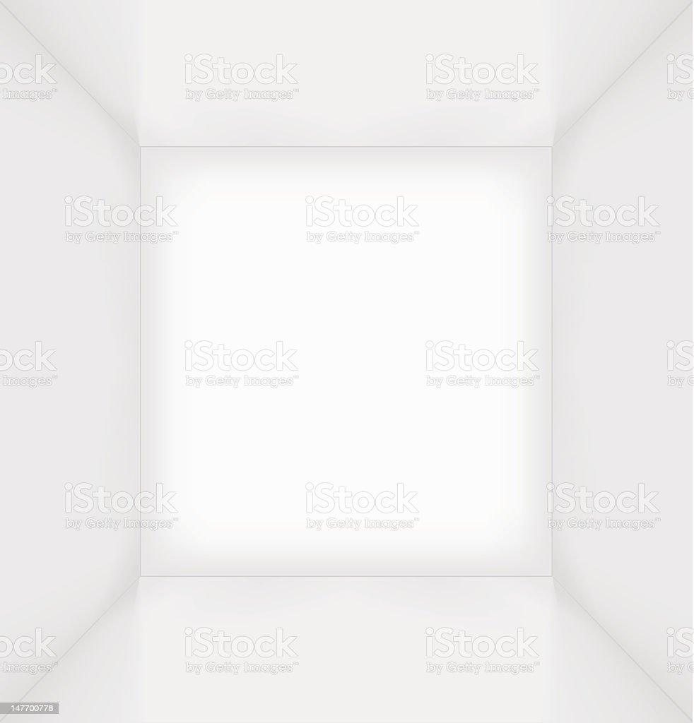 White simple empty room interior vector art illustration