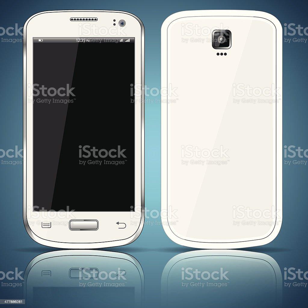 White smartphone royalty-free stock vector art