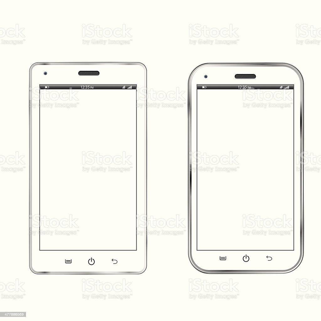 White smartphones royalty-free stock vector art