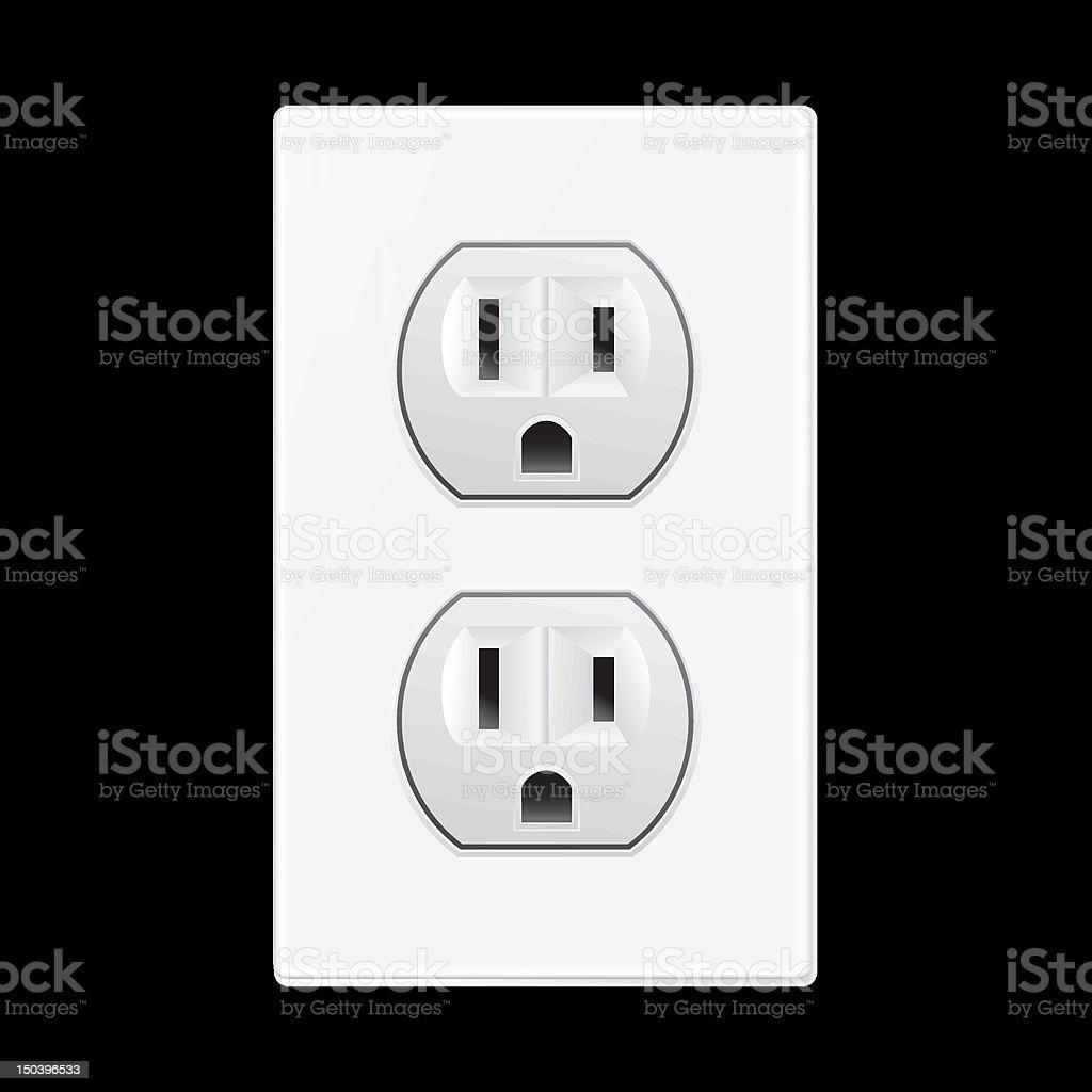 white socket royalty-free stock vector art