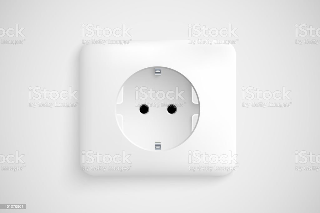 white socket royalty-free stock vector art