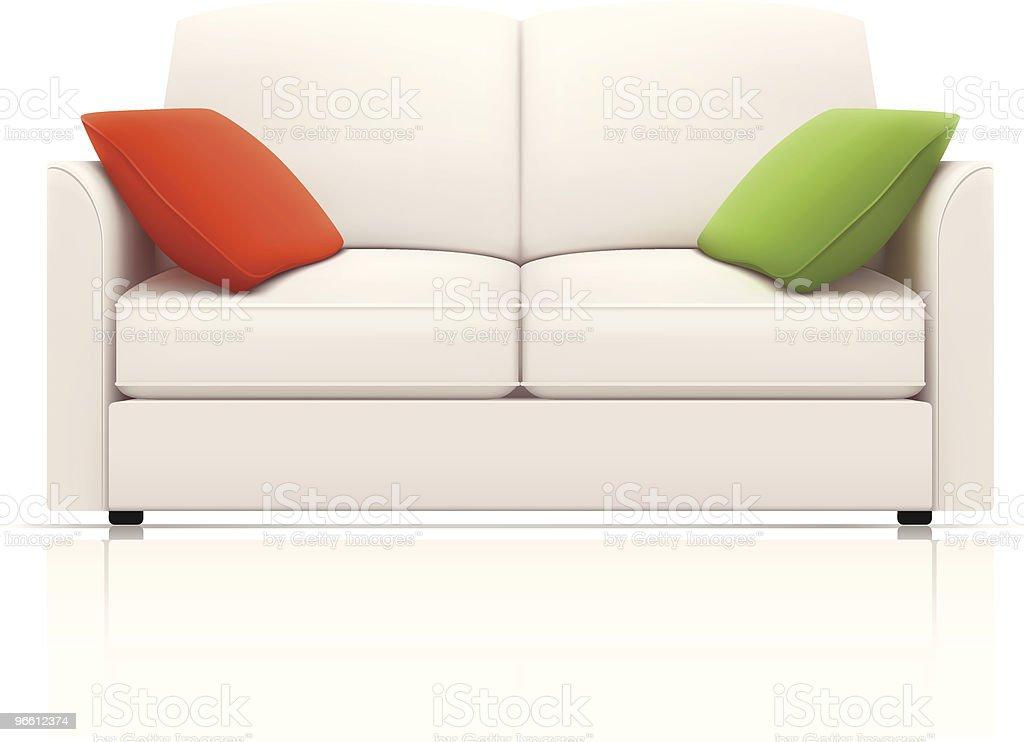 White sofa royalty-free stock vector art
