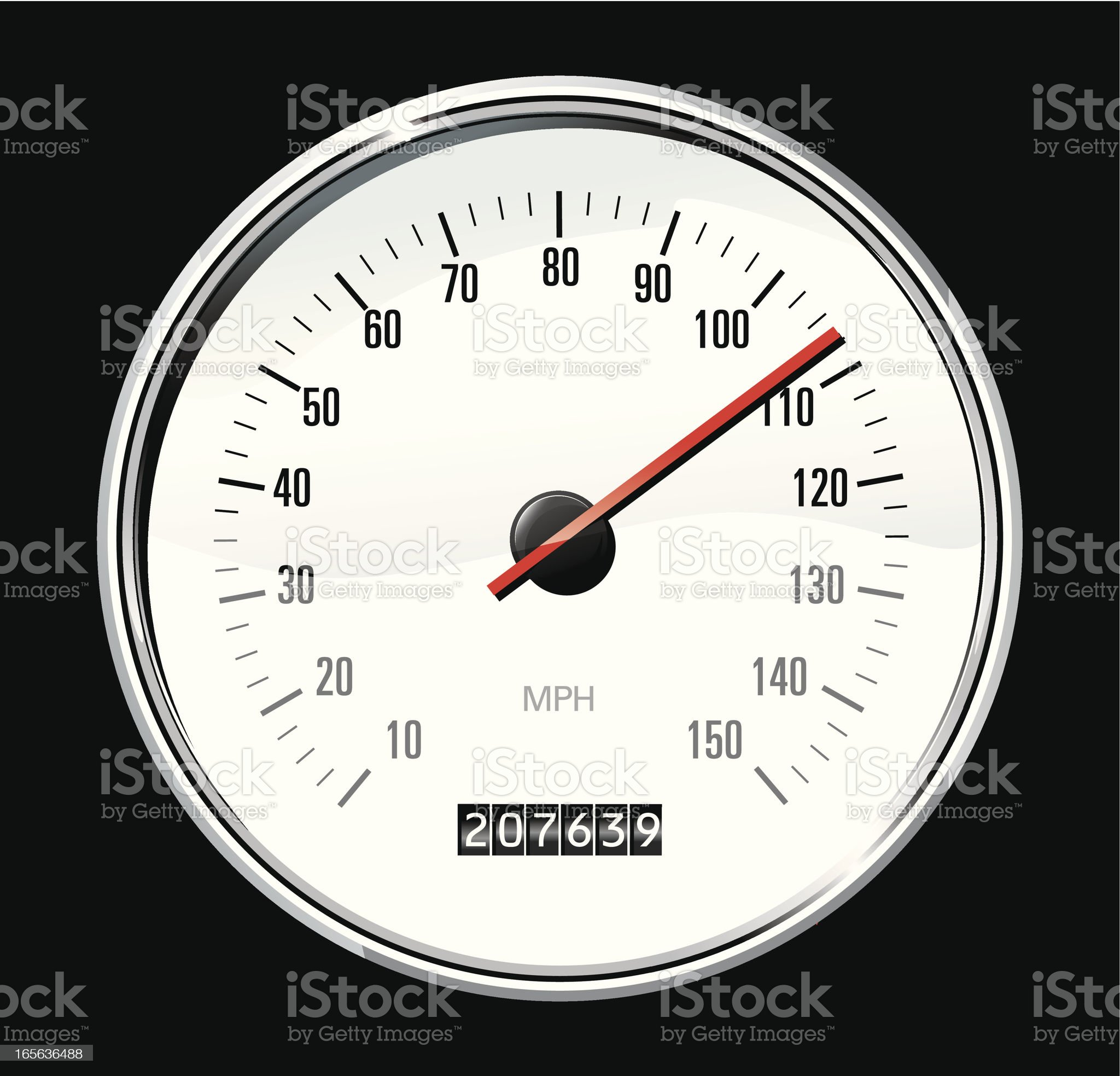 white speedometer royalty-free stock vector art