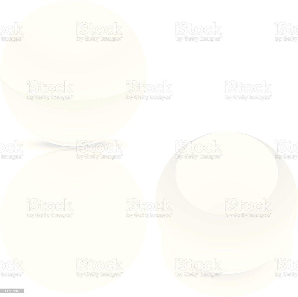 White sphere ball royalty-free stock vector art