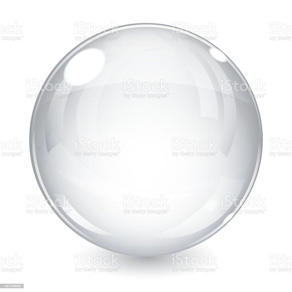 White sphere vector art illustration