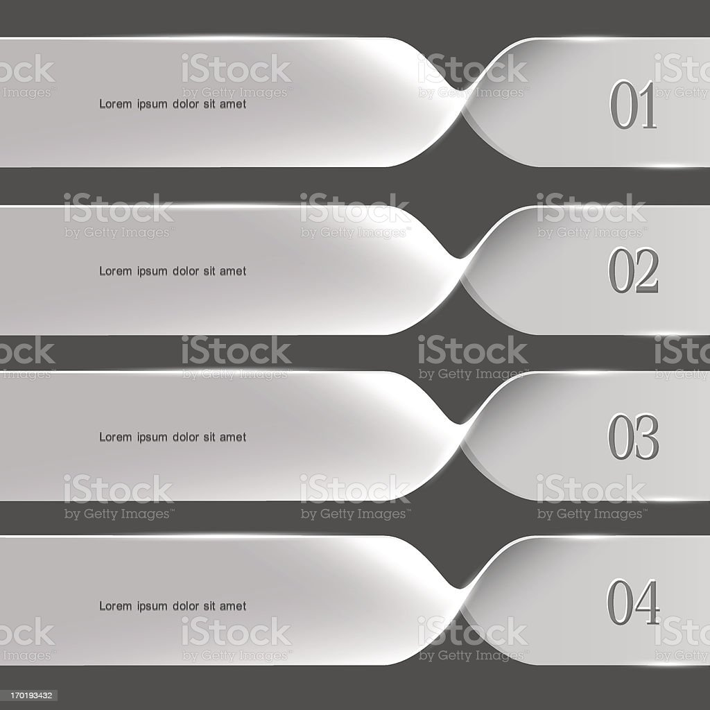 White spiral options banners royalty-free stock vector art