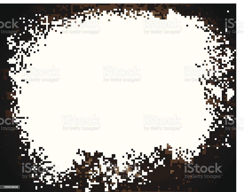 White Splatter Banner on Brick Wall vector art illustration