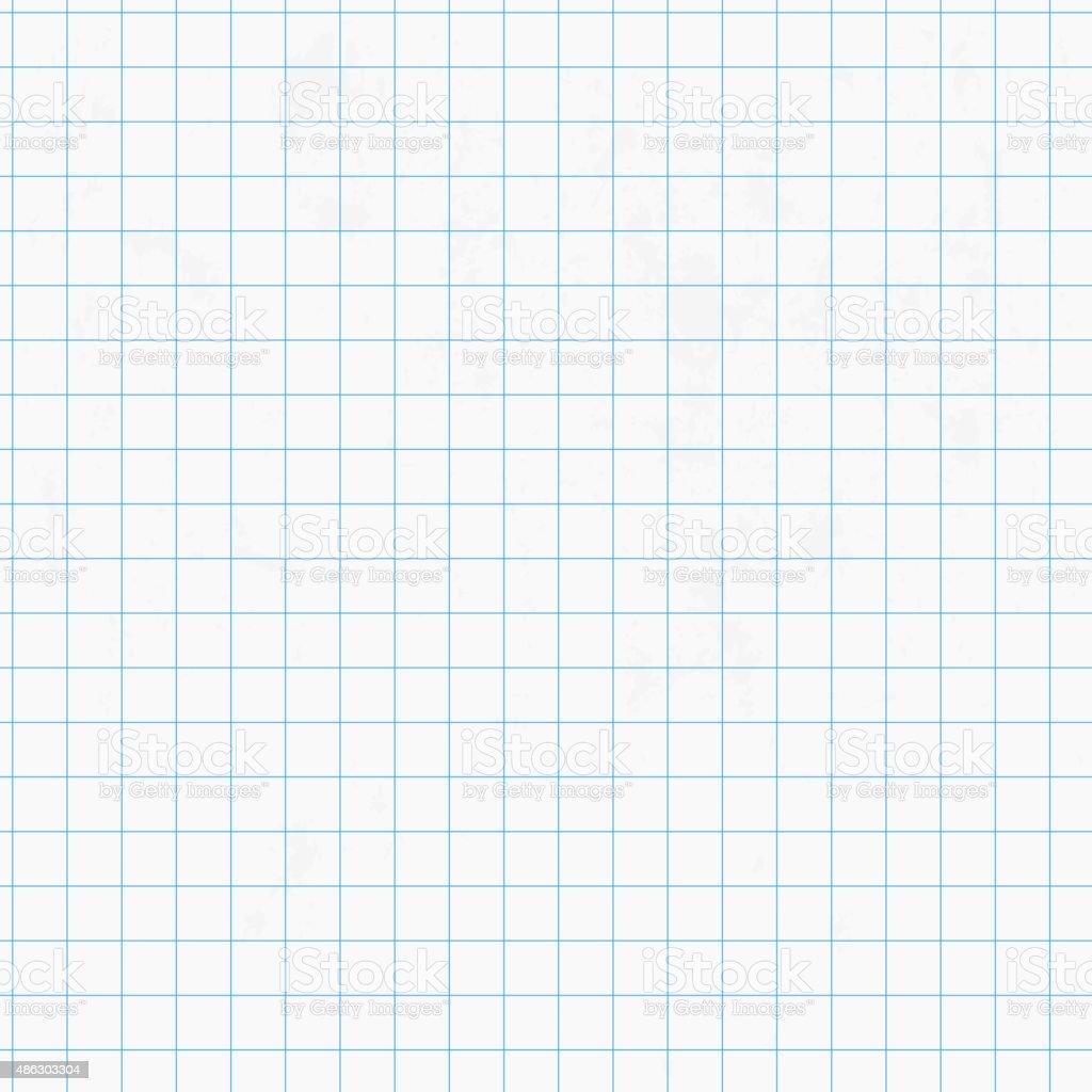 White squared graph paper seamless vector art illustration