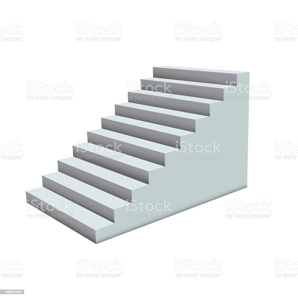 White stairs. vector art illustration