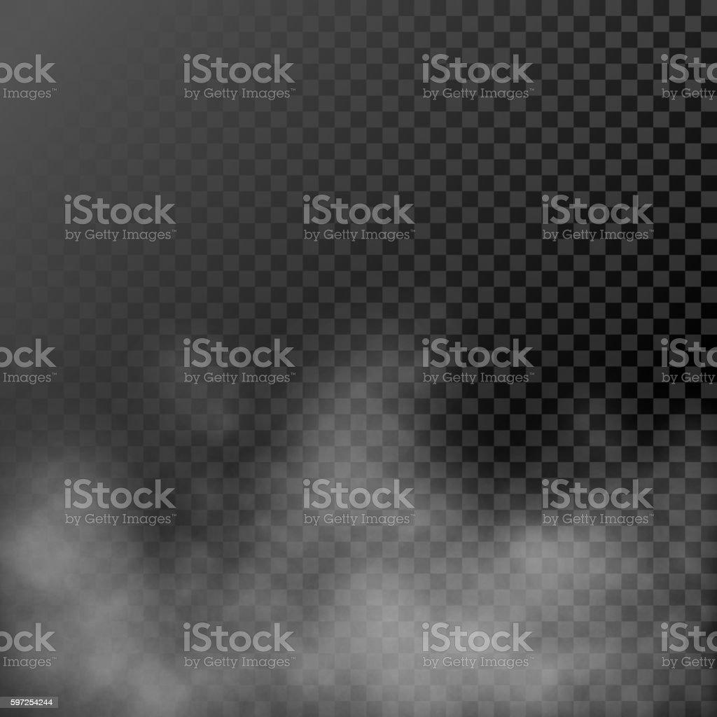 White steamy haze on transparent background vector art illustration
