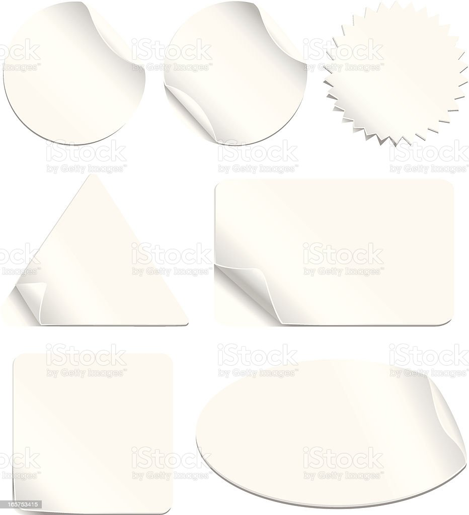White Stickers Set royalty-free stock vector art