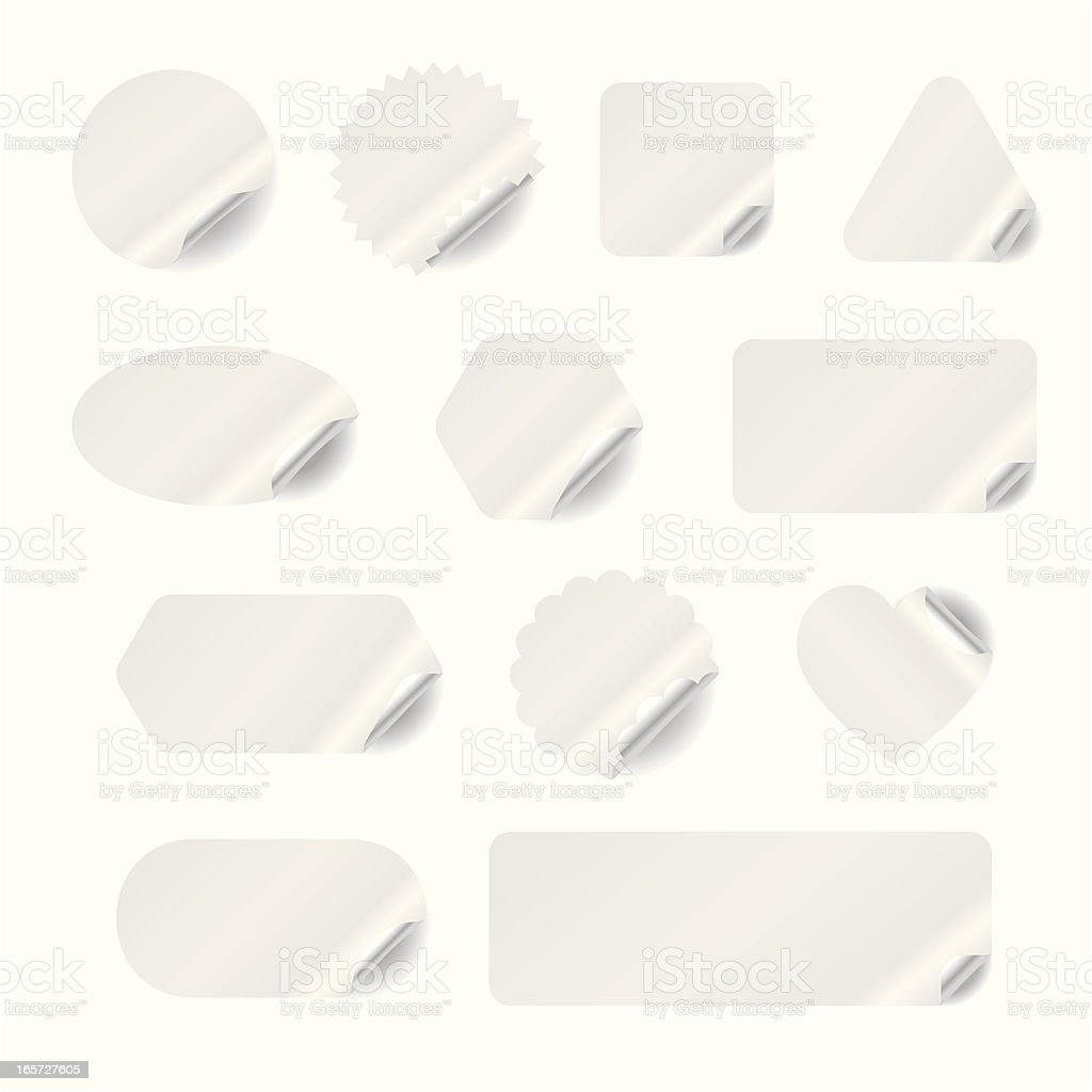White Stickers royalty-free stock vector art