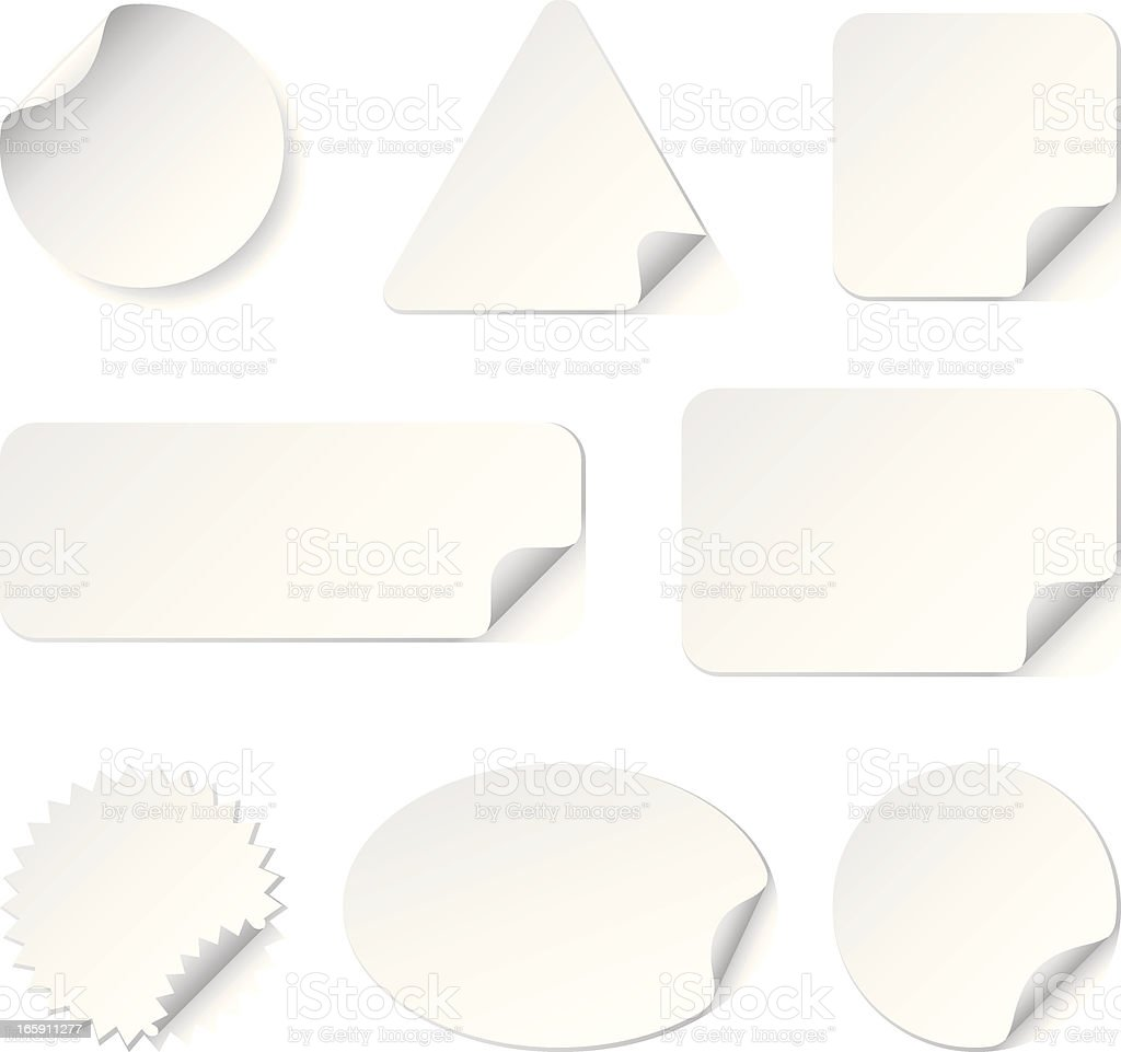 White Stickers(Vector) royalty-free stock vector art