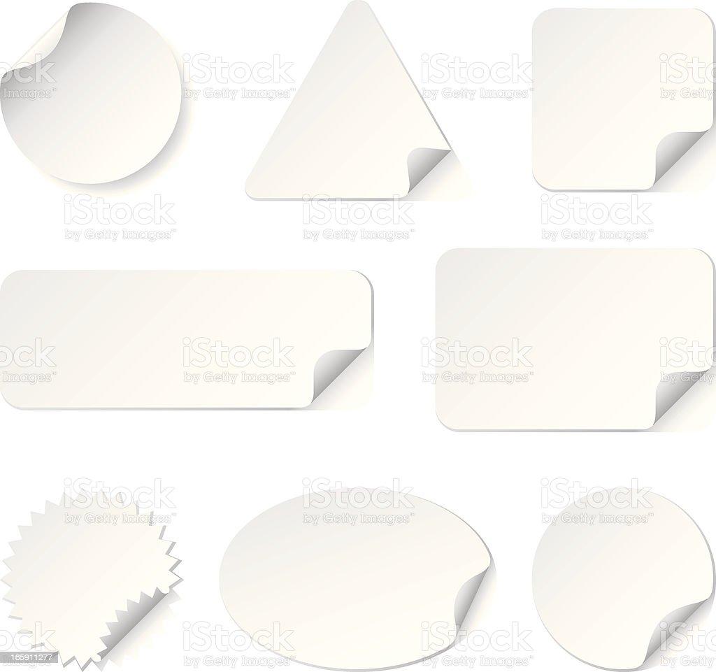 White Stickers(Vector) vector art illustration