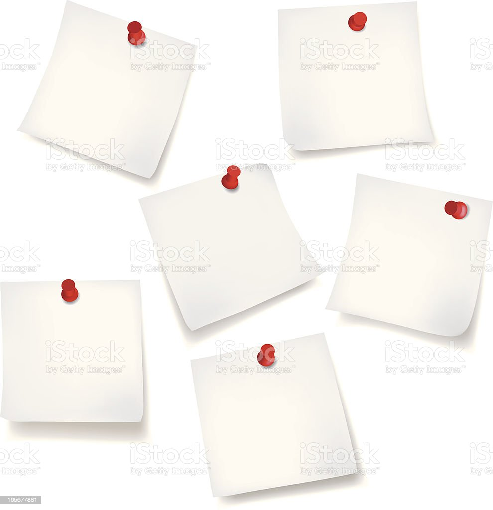White Sticky Note royalty-free stock vector art
