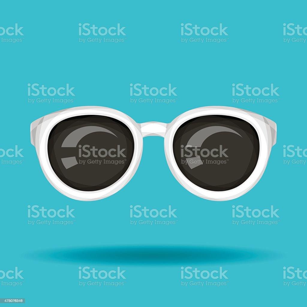 White Sunglasses vector art illustration