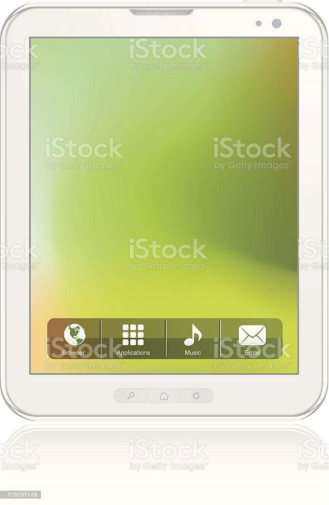 White Tablet Computer royalty-free stock vector art