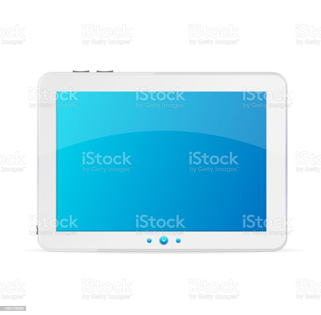 White tablet pc royalty-free stock vector art
