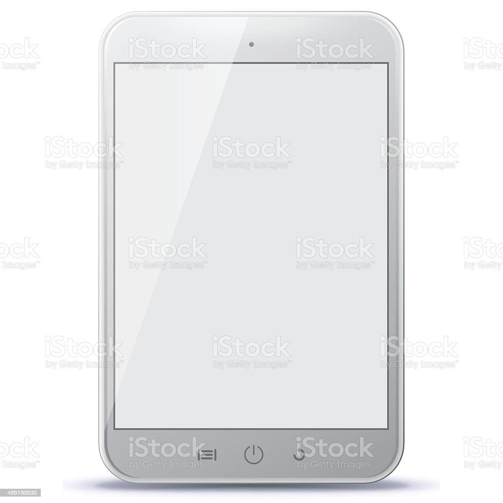 White Tablet PC Vector Illustration. vector art illustration