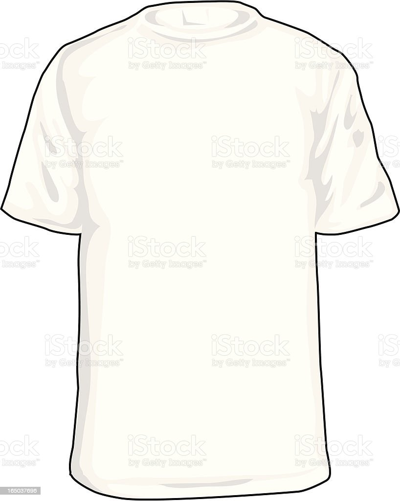 White Tee (T-Shirt Adult Size) royalty-free stock vector art
