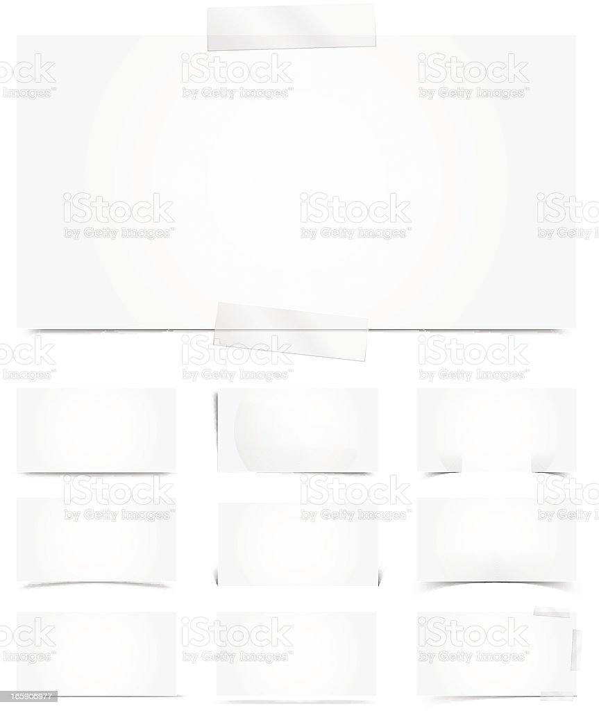 White template with shadows vector art illustration