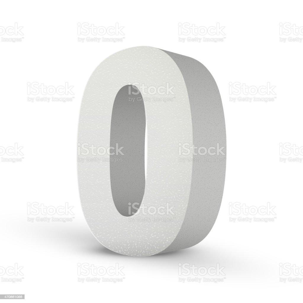 white texture number zero vector art illustration