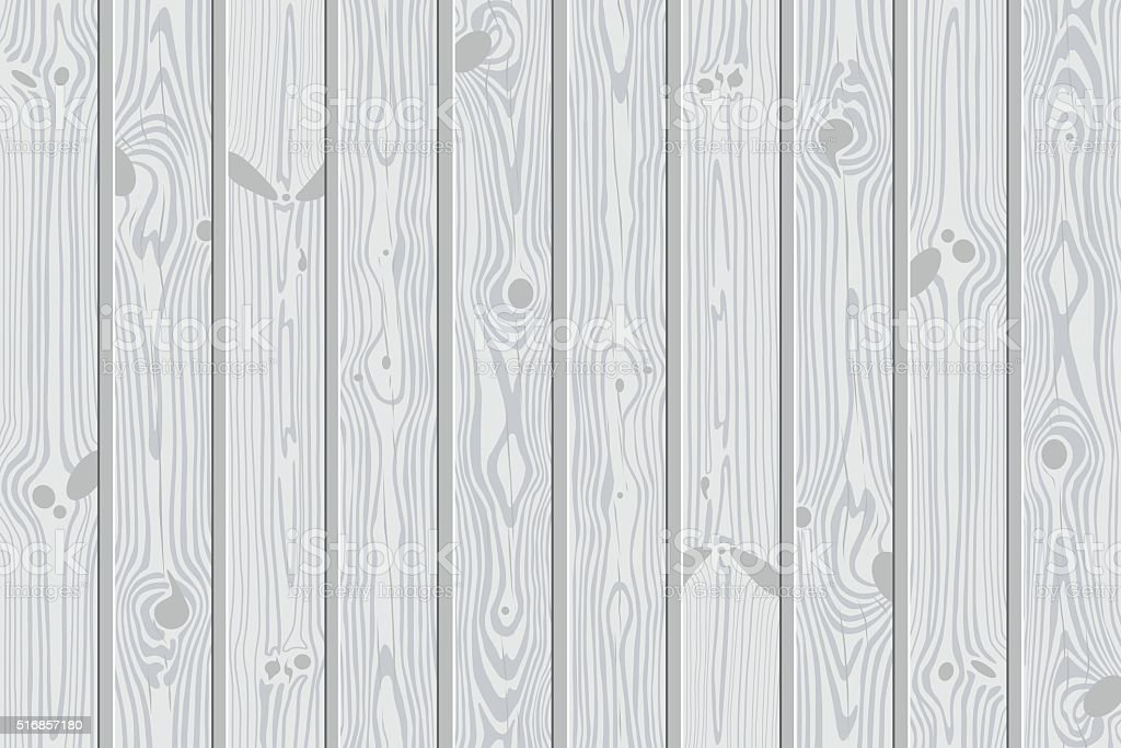 White textured wooden wall vector art illustration