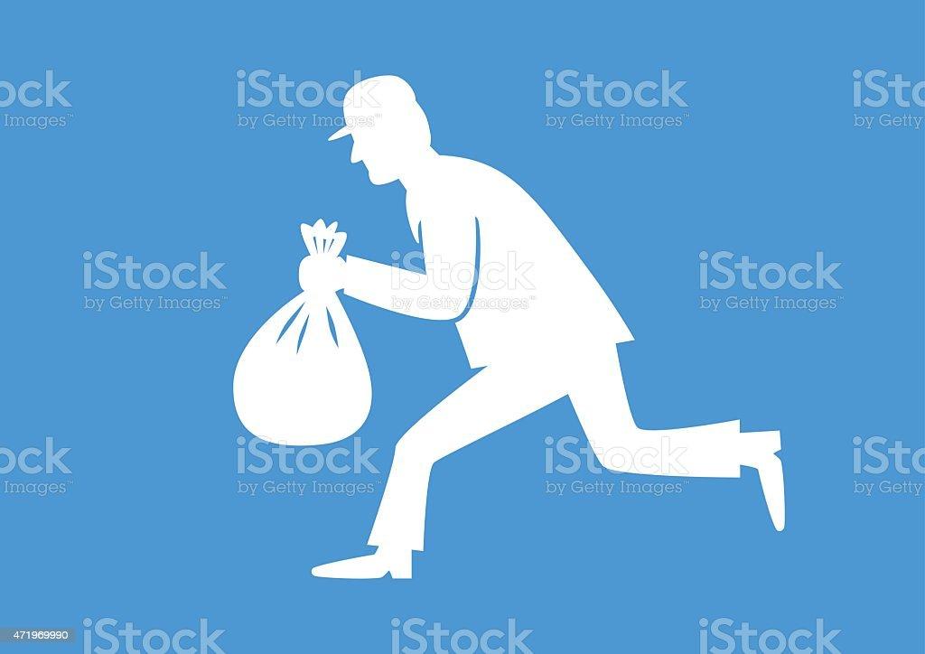 White thief icon vector art illustration