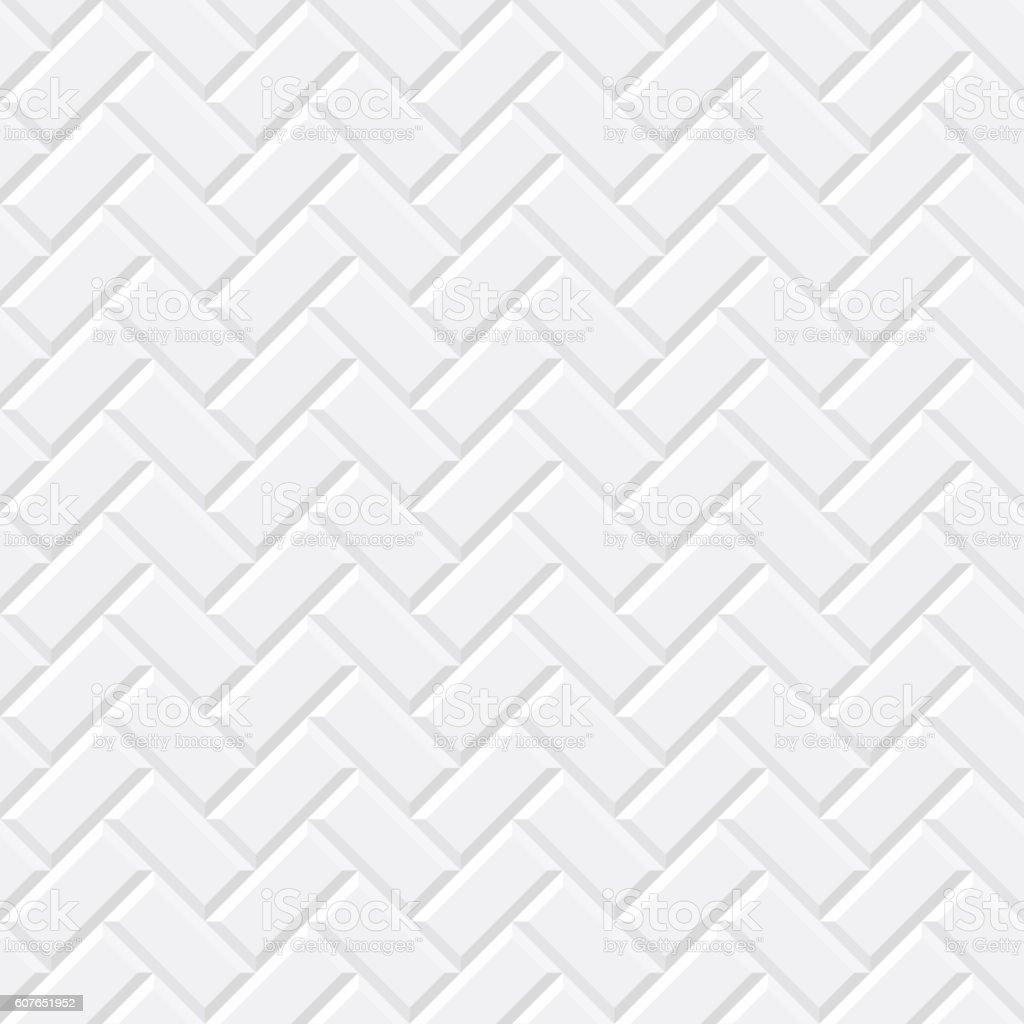 White tiles, ceramic brick vector art illustration