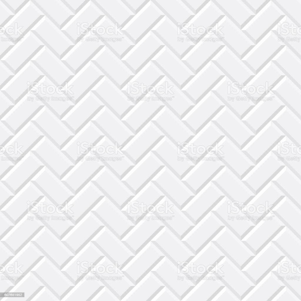 White tiles, ceramic brick vector art illustration